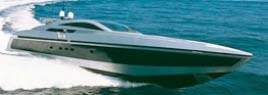Photo of a 32m Baglietto Motor Yacht cruising through the Greek waters of the Aegean sea.